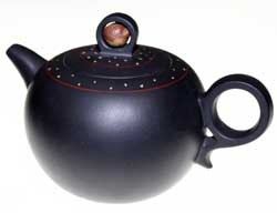 Globular Purple Clay Teapot (HW-06)
