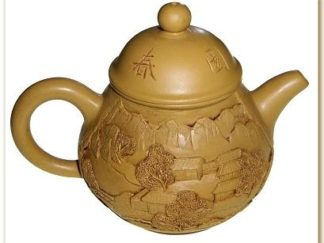 Purple Clay Teapot with Landscape Pattern HW-13
