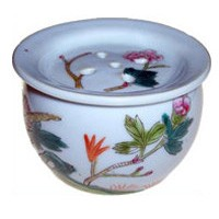 Porcelain Container -Peony/Pheasant (FY01)