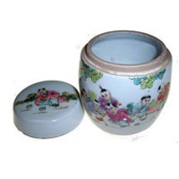 Porcelain Container -Children Playing (FY02)